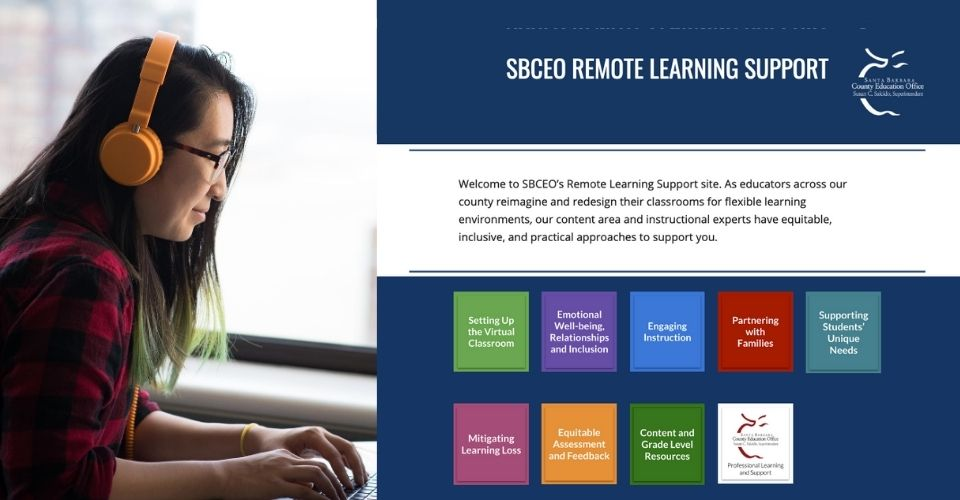 Remote Learning Support Site Slide